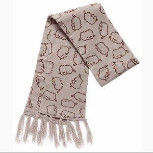 Pusheen gray cat scarf